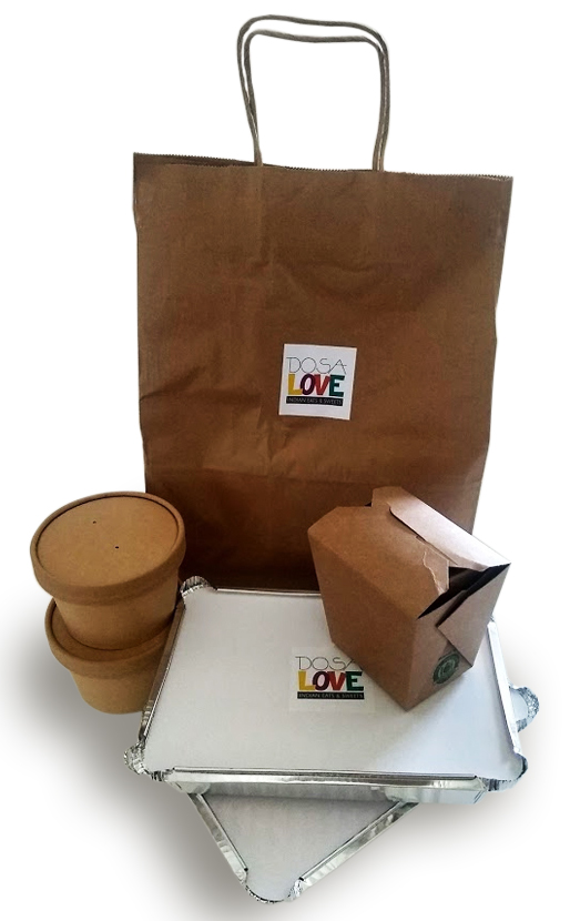 Togo Package of paper bag and other togo boxes